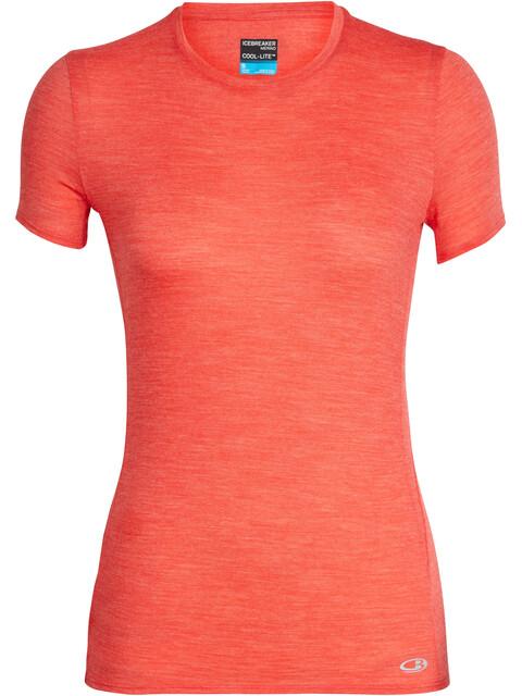 Icebreaker Amplify - Camiseta Running Mujer - rojo
